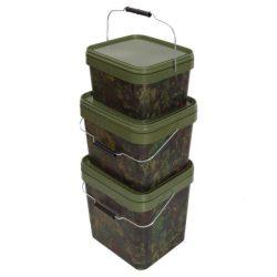 Gardner - Square Camo Bucket 10 Litre  (SBUC10) - terepmintás vödör