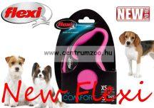 Flexi New Comfort M Cord zsinóros póráz 5m 20kg - RÓZSASZÍN (11745)