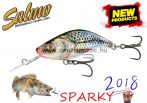 Salmo SPARKY SHAD SINKING 4cm 3g wobbler - 	Silver Holographic (QSS001)