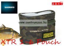 SHIMANO Tribal XTR 1-6 Pouch etető anyagos és szerelékes táska 13x11x7cm (SHTRXTR101)