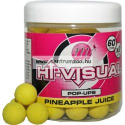 MAINLINE Baits High Visual Pop-Ups PINEAPPLE JUICE 15mm 50db lebegő fluo bojli (M13001)