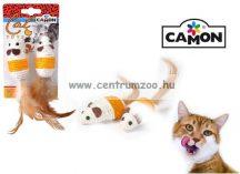 Camon Topo con piuma in Sisal játék egér 7cm 2db/csomag (AG013/B)