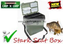 Carp Zoom Stark Seat Box ülőkés horgász láda 34x24x38cm (CZ0840)