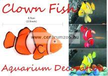 Akváriumi dekoráció - ClownFish - szilikon bohóchal - NARANCS (OM-5006 )