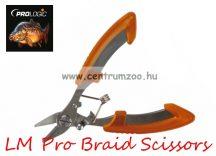 Prologic LM Pro Braid Scissors 1pcs fonott zsinór vágó olló (49960)