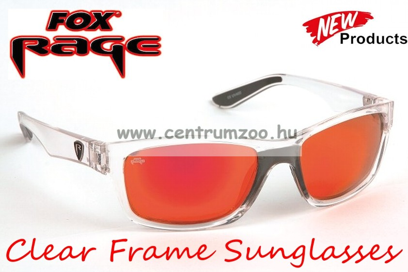 FOX Rage Sunglasses Clear Frame - Mirror Red Lense polar napszemüveg  (NSN002) 2f51254fcc