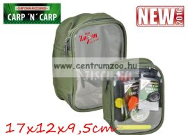 Carp'n'Carp átlátszó tetejű táska L, zöld  17x12x9,5cm (CZ3477)