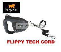 Ferplast Flippy Tech Deluxe Cord Medium Black zsinóros póráz - FEKETE - AKCIÓ