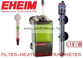 Eheim Pick Up 2008 + Jäger 50W teljes belső akváriumi technika szett  Szűrő-Levegőztető+Vízmelegítő+Hőmérő