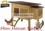 Ferplast Hen House Basic 120 baromfi ház tojóládával 124cm (57094500)