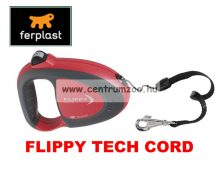 Ferplast Flippy Tech Deluxe Cord Medium Red zsinóros póráz - BORDÓ