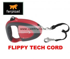 Ferplast Flippy Tech Deluxe Cord Small Red zsinóros póráz - BORDÓ