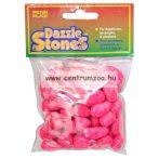 Penn Plax Dazzle Stones akvárium dekor aljzat kavics - PINK 220g (010378)