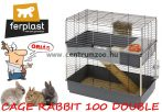 Ferplast Rabbit 100 Double full felszerelt ketrec