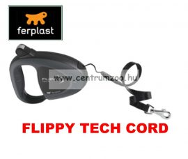 Ferplast Flippy Tech Deluxe Cord Small Black zsinóros póráz - FEKETE