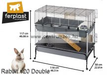 Ferplast Rabbit 120 Double Full nyúlketrec 2 ajtóval