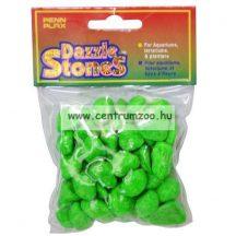 Penn Plax Dazzle Stones akvárium dekor aljzat kavics - ZÖLD 220g (010361)