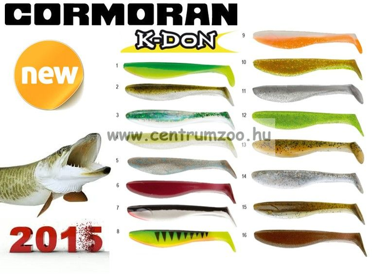 Cormoran K-Don S9 prémium gumihal 13cm WHITE-ORANGE  (51-28309)