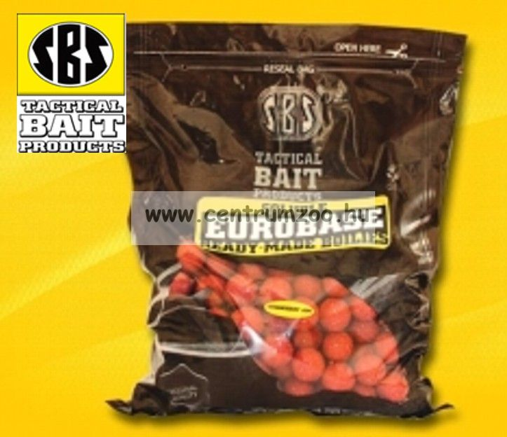 SBS Soluble EuroBase Ready-Made Boilies 20mm oldódó 1kg-Strawberry Jam (eperkrém) (70003)