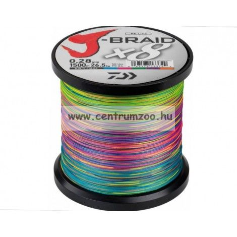 DAIWA J-BRAID FONOTT ZSINÓR MULTICOLOR 8 BRAID 300m 0,18mm fonott zsinór (12755-118)