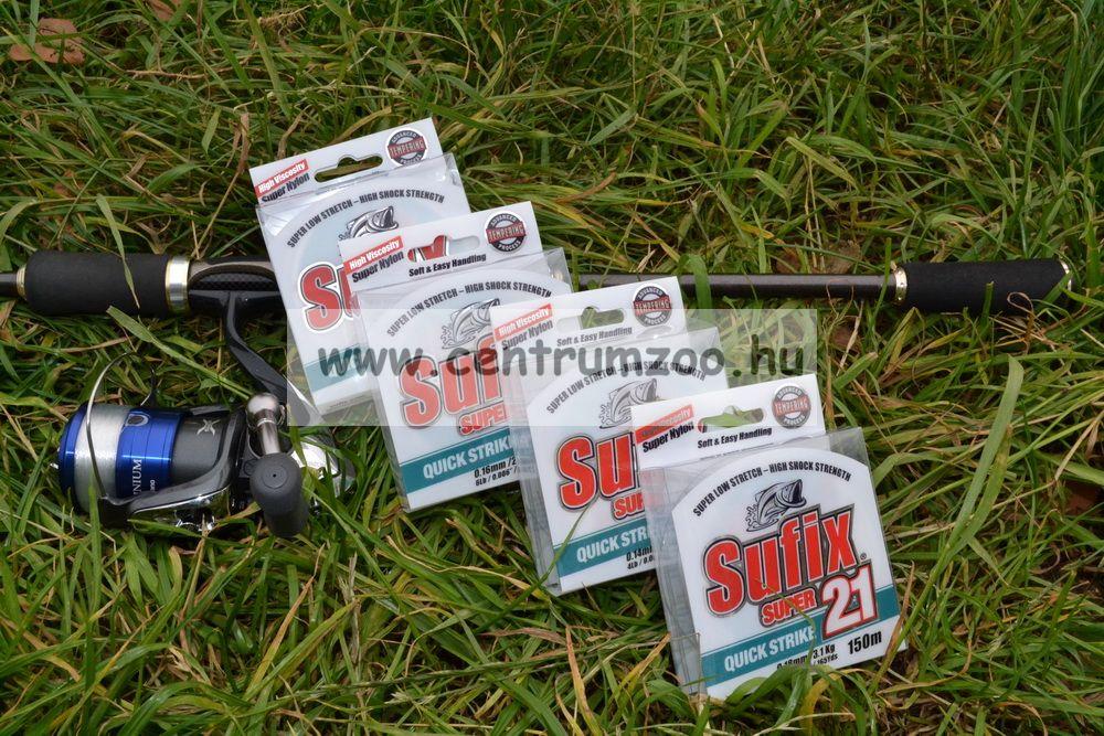 Sufix SUPER21 0.30mm/7,7kg/17LB/clear 300m japán monofil zsinór 2015NEW