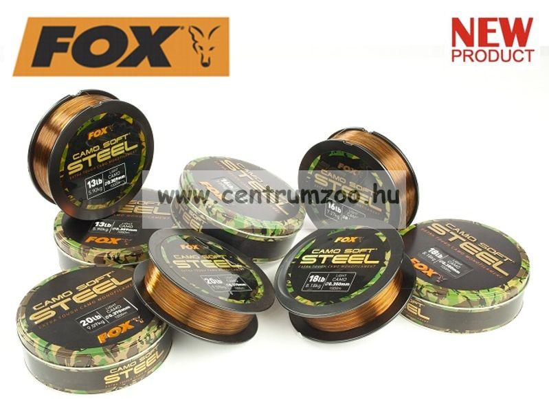 FOX Camo Soft® Edges Soft Steel Dark Camo 13lb x 1000m - 0.309mm  5.9kg monofil zsinór (CML136)