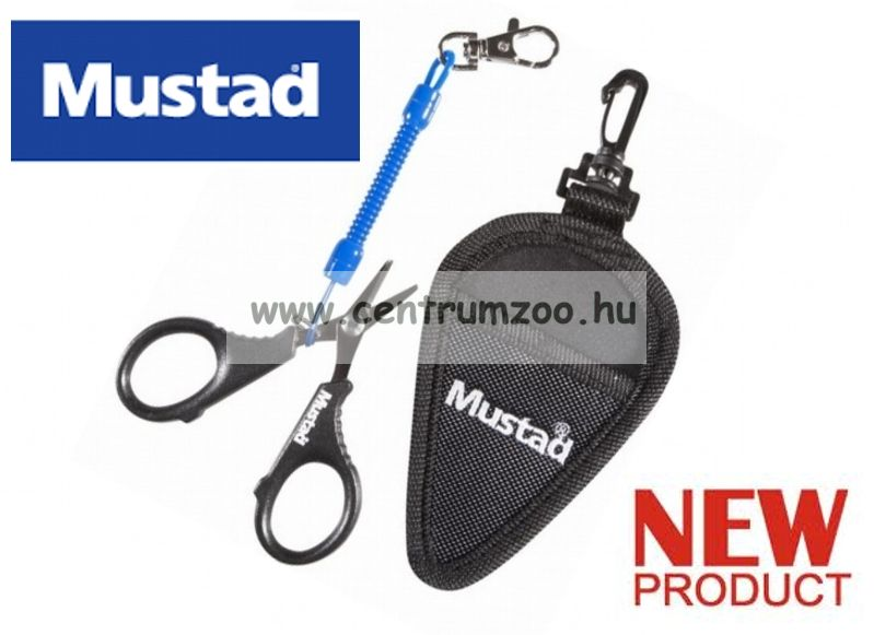 Mustad Micro Braid Scissors profesional olló fonott zsinórhoz is (MT025)