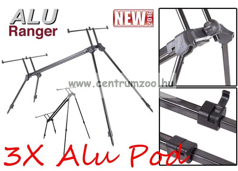ALURANGER 3-X ALU POD 3 botos bottartó állvány, rodpod (4894)