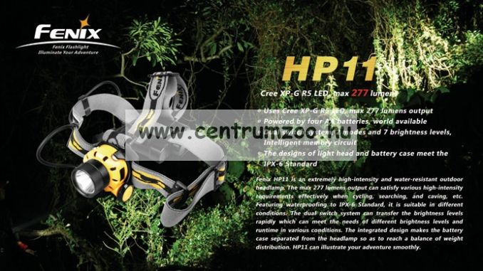 FENIX HP11 R5 FEJLÁMPA (277 LUMEN) vízálló
