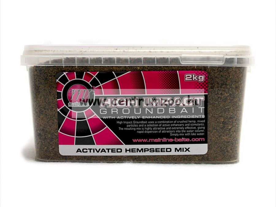 MAINLINE HIGH IMPACT ACTIVE FISH MIX HEMP 2KG (M08004)