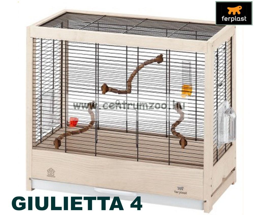 Ferplast Giulietta 4 felszerelt nagyméretű fa kalitka (2015NEW)