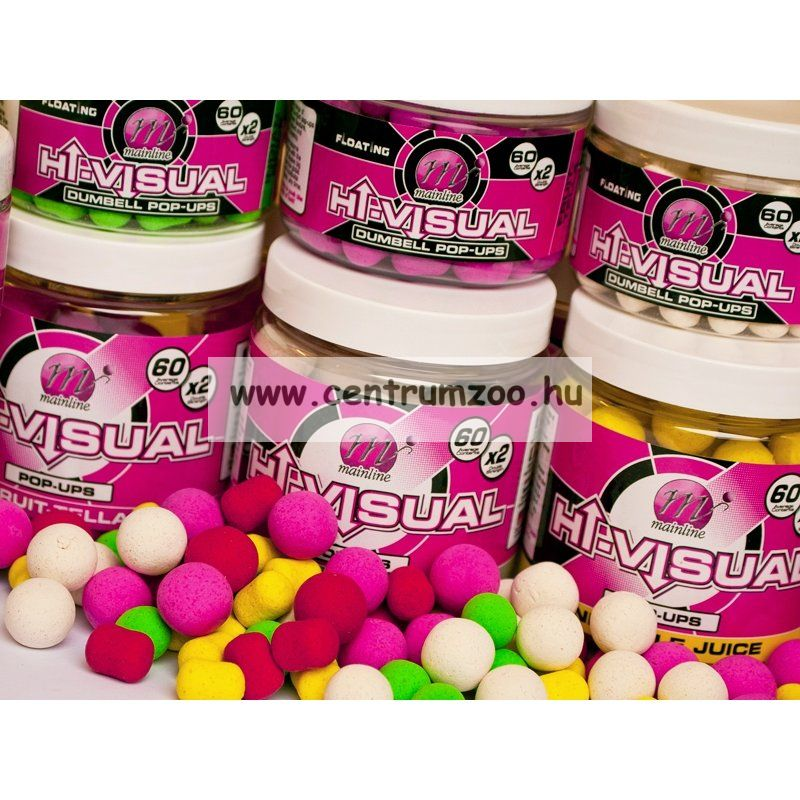 MAINLINE Baits High Visual Pop-Ups Milky Toffee 15mm 50db lebegő fluo bojli (M13005)