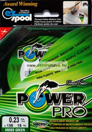 Power Pro zsinór  1370m 0,23mm 15kg / zöld