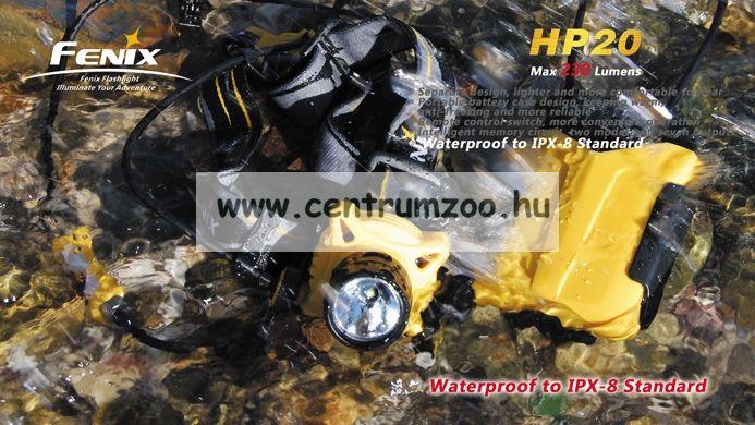 FENIX HP20 NEW FEJLÁMPA (230 LUMEN) vízálló