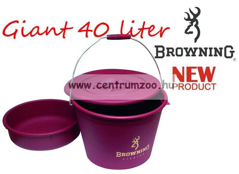 Browning Bucket with lid and bowl 30l nagyméretű horgász vödör+edény+tető (8514010)