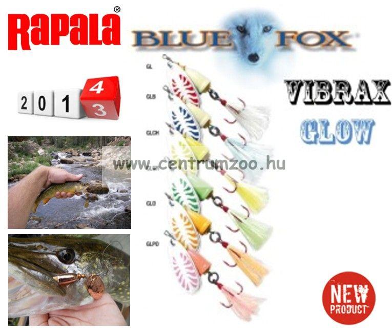 RAPALA BLUE FOX VIBRAX Glow BFGVS3 villantó
