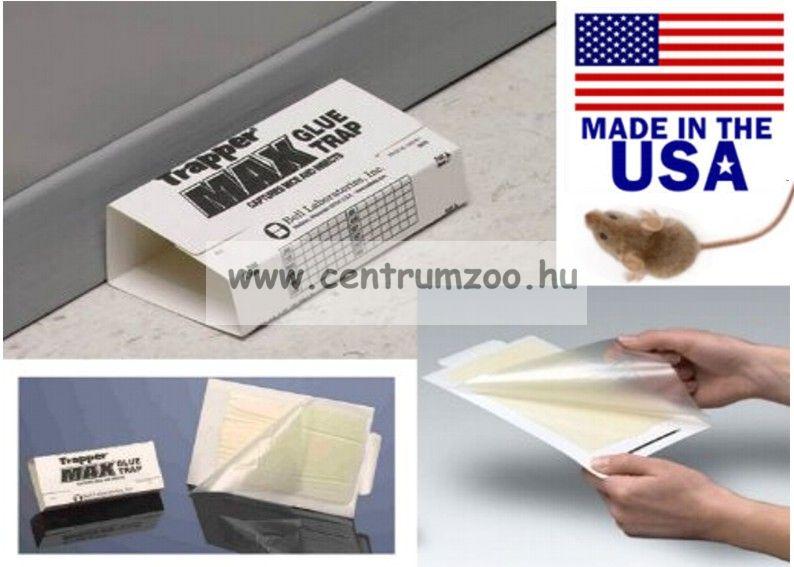 Trapper Max 10db aromatizált folyásmentes ragasztós csapda, egérfogó, csótányfogó lap 10db
