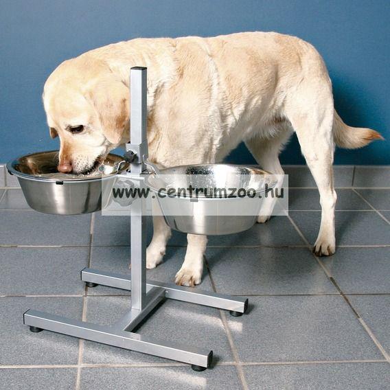 Camon Doggy Bar állványos tálszett 2*28 cm - 2*47800 ml  méretben C026/5