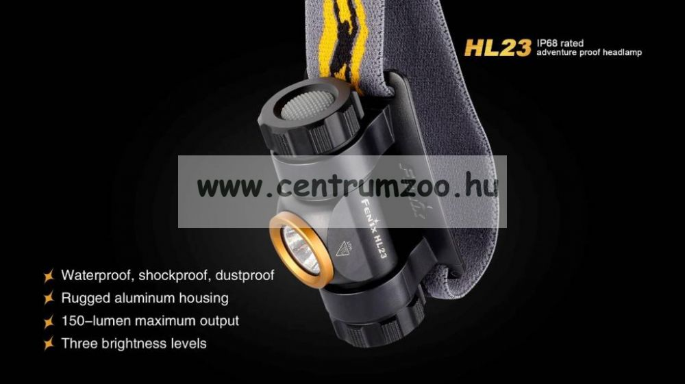 FENIX HL23  LED FEJLÁMPA (150 LUMEN) vízálló 2015NEW
