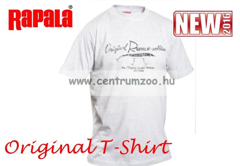 Rapala póló SZÜRKE környakas Original Rapala wobbler (614439-40-41)