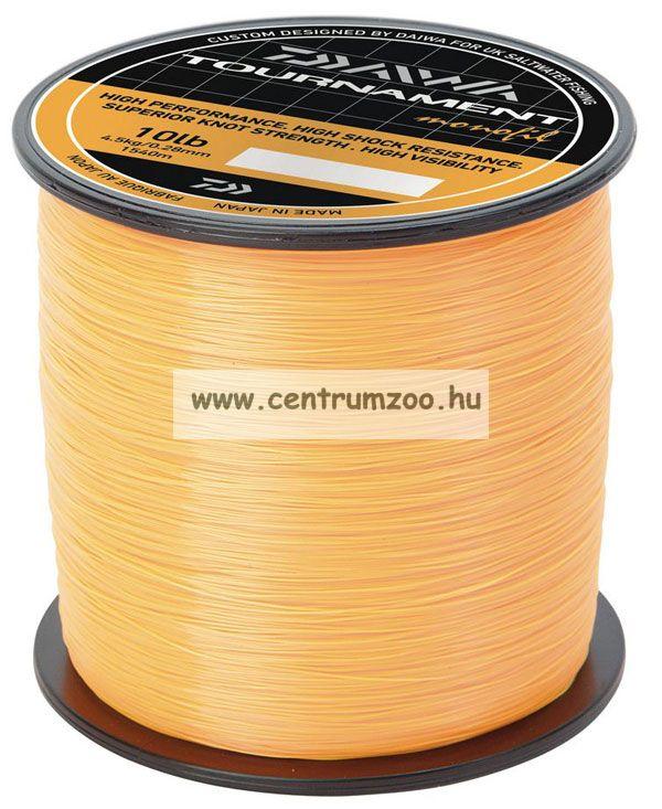 Daiwa Tournament Fluoror Orange 18lb 0,40mm 755m prémium zsinór (TFMO180)