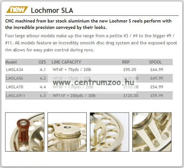 Daiwa Lochmor SLA 9/11 prémium legyező orsó (LMSLA911)(191391)