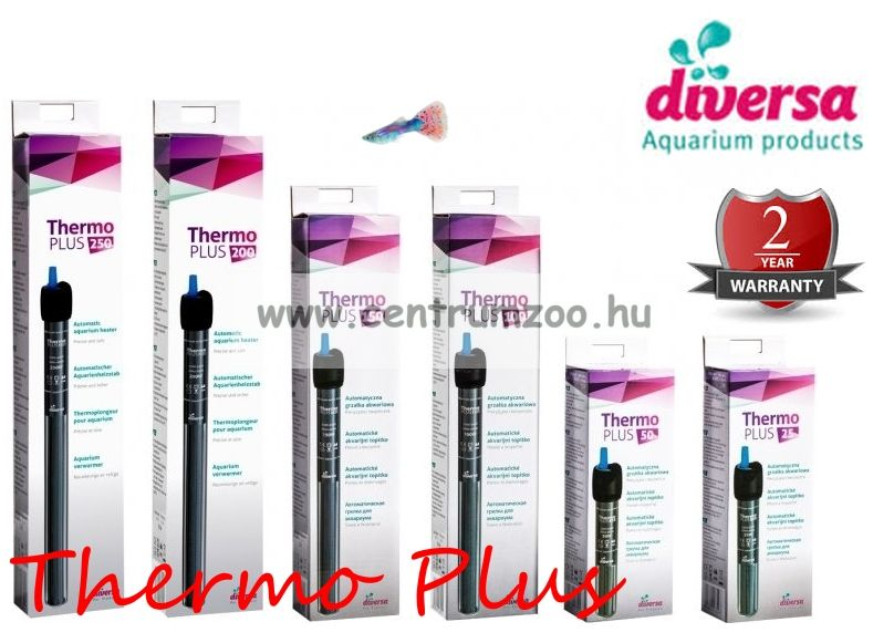 Diversa Thermo Plus automata hőfokszabályzós vízmelegítő   25W 14cm