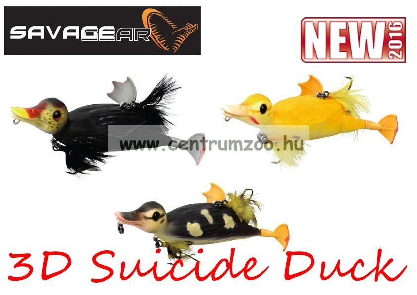 Savage Gear 3D Suicide Duck mű kiskacsa csukára, harcsára 15cm 70g (Yellow color)