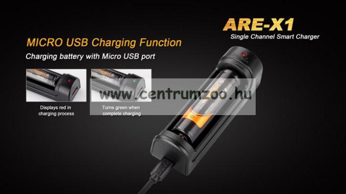 FENIX AKKU TÖLTŐ ARE-X1 (18650 ARB-L2 2600-3400mAh akkumulátorhoz)