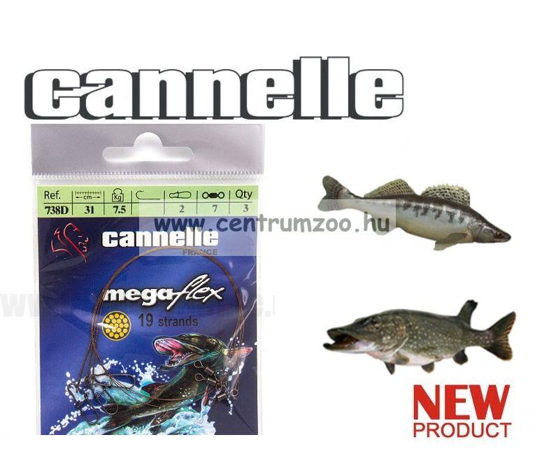 CANNELLE MEGAFLEX forgóban és kapocsban végződő előkezsinór szett 3db/cs (738)