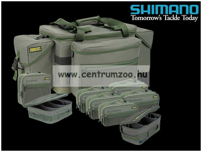 Shimano Carp Luggage Compact System Carryall horgásztáska rekeszekkel 6 kiegészítővel 78x41x31cm  (SHOL02)