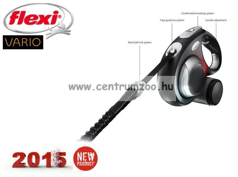 Flexi Vario Tape 2015NEW S RED SZALAGOS 5m 15kg automata póráz -PIROS