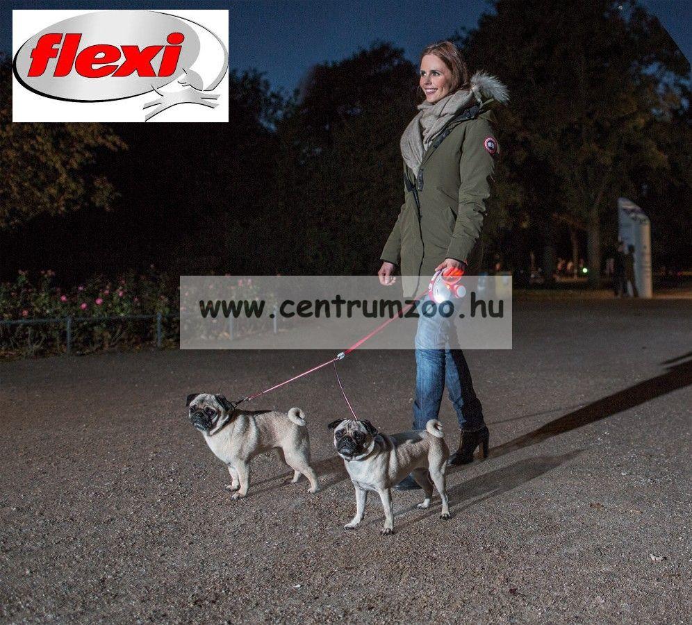 Flexi Vario Tape 2015NEW M RED SZALAGOS 5m 25kg automata póráz -PIROS