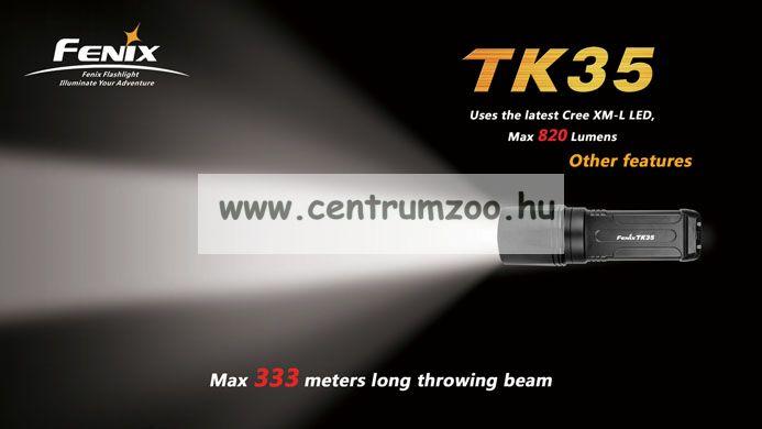 FENIX TK35 ELEMLÁMPA (900 LUMEN) 330méter  vízálló